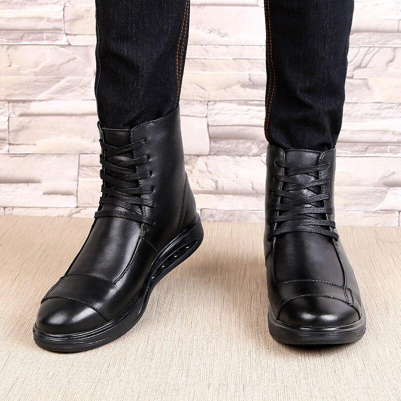 Ботинки «Челси»; мужские удобные ботинки наивысшего качества на шнуровке; модные повседневные кожаные ботинки из натуральной кожи; Мужские... - 5