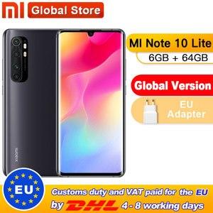 In Stock Global Version Xiaomi Mi Note 10 Lite 6GB 64GB Snapdragon 730G Octa Core Smartphone 5260mAh AMOLED 64M 6.57