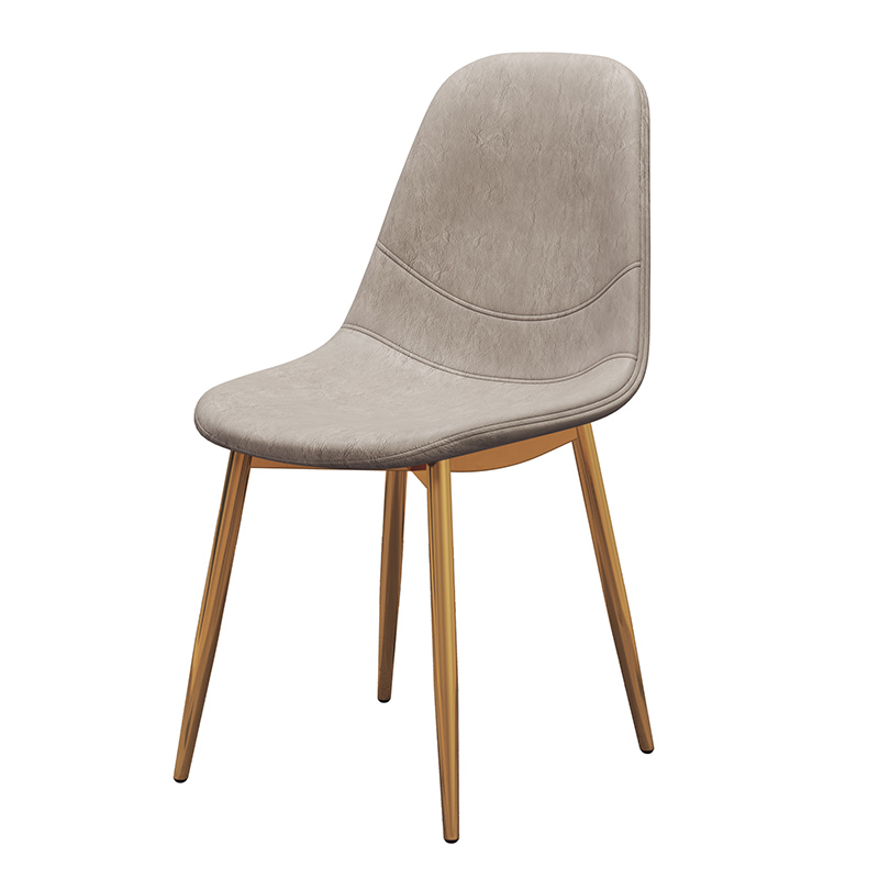Nordic dining chair simple home back stool desk chair cafe lounge chair European restaurant leather chair