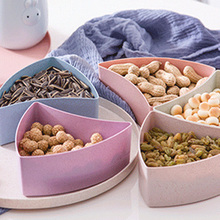 Creative Dry Fruit Tray Snack Storage Box Home Living Room Candy Snack Plates Serving Storage Container Holder Home Organized