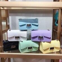 Jelly Purse Summer Bag Women's Handbags PVC Famous Designer Chains Flap-Cluth-Bag Crossbody-Bags