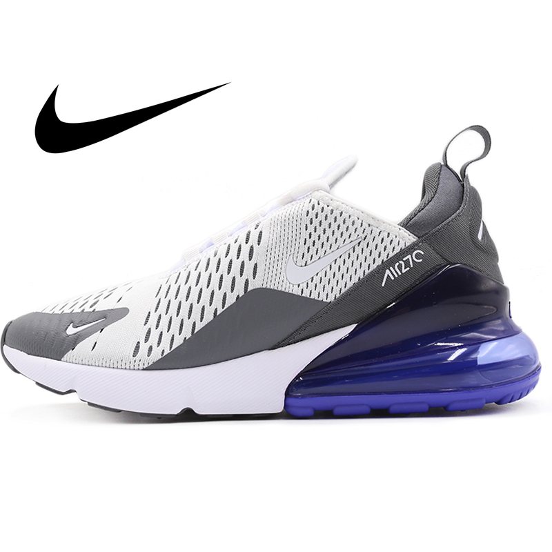 Original Authentic Nike Air Max 270 Flyknit Man Running Shoes Cozy Breathable Durable Top Quality Sport Outdoor Sneakers AH8050