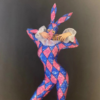 Stage Costume Women Nightclub Rabbit Cosplay Colorful Jumpsuit Sexy Outfits For Woman Jazz Rave Clothes Performance Wear DT2062