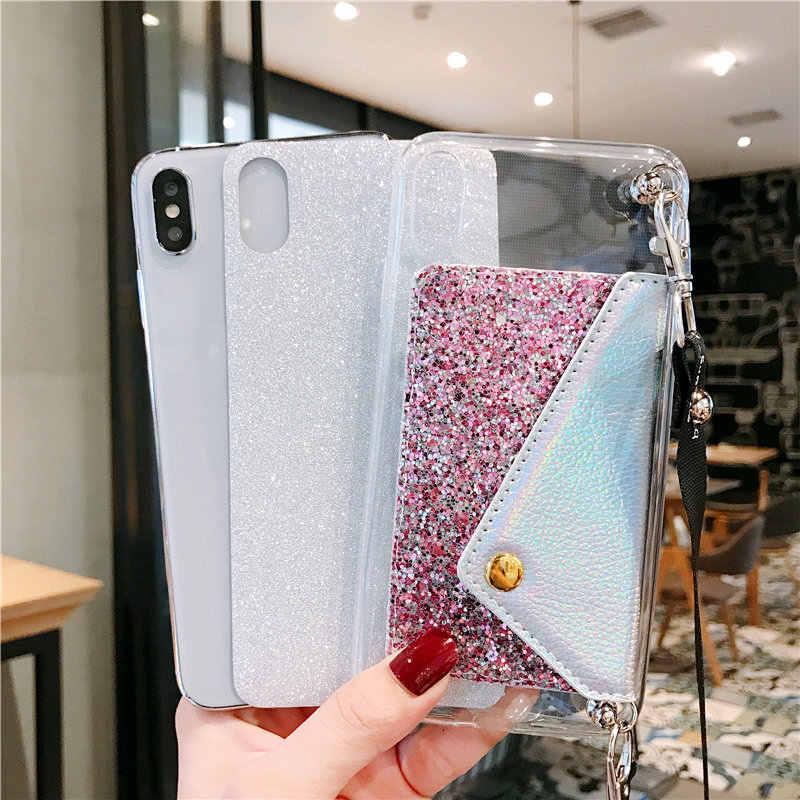 גליטר מקרה ארנק עבור Samsung Galaxy A90 A80 A70 A60 A50 A40 A30 A20 A10 A8S A6S A40S M30 M20 m10 A50S A30S A20E מכסה