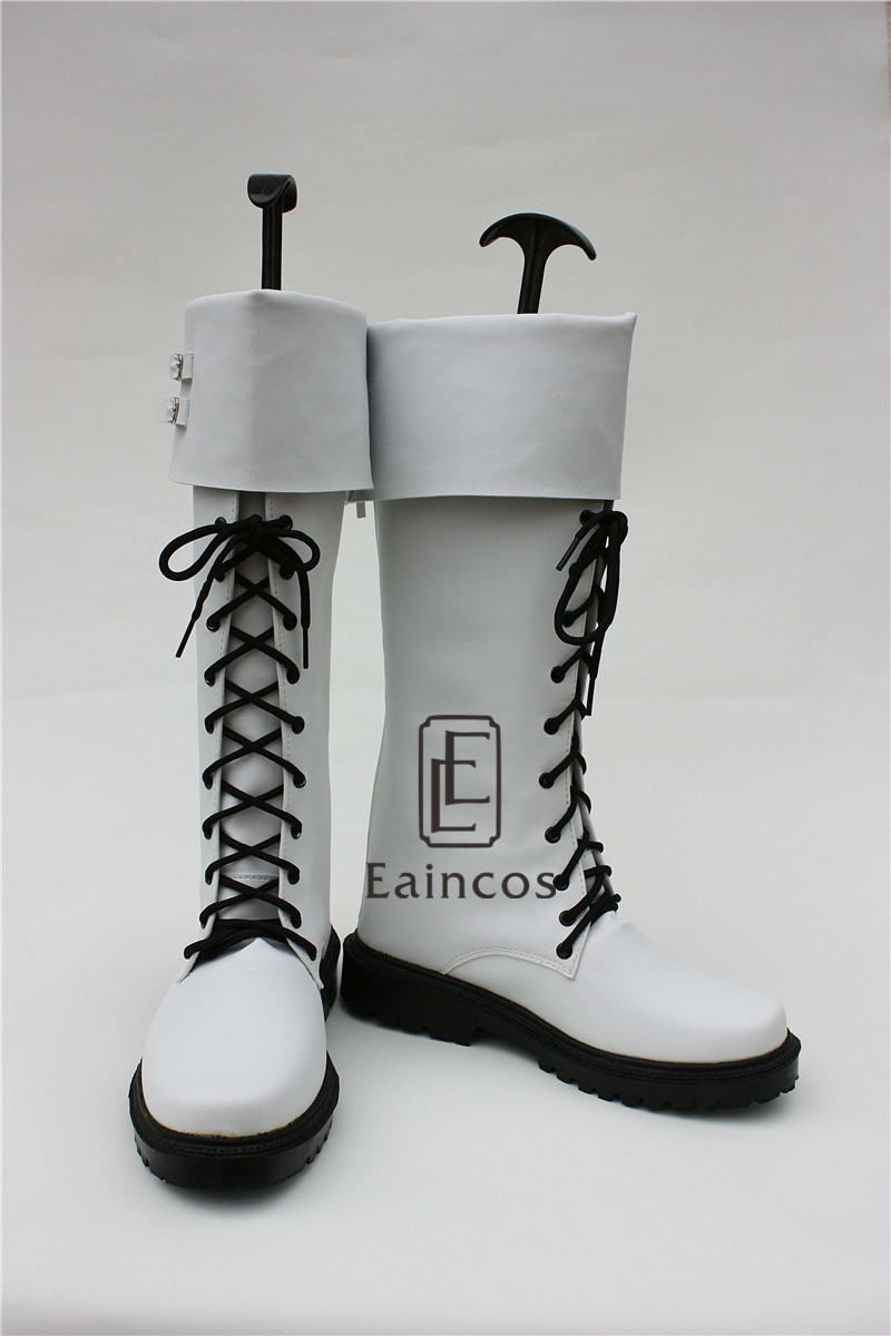 Anime DMMD Dramatical Murder Clear White Boots Cosplay Shoes Custom Made-in Shoes from Novelty & Special Use    2