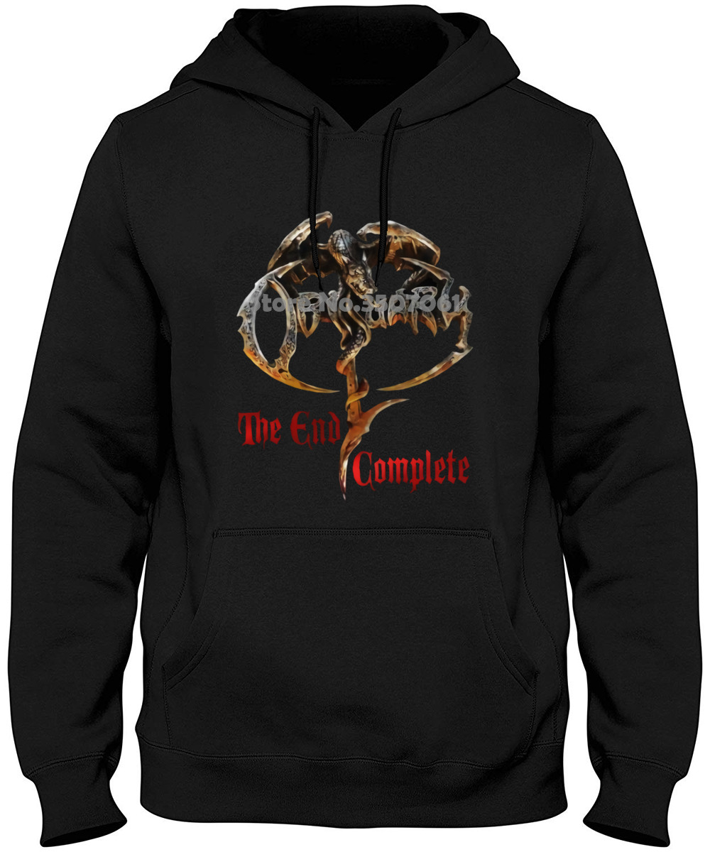 Obituary - The End Complete - American Death Metal Band , T _ , Sizes :  Long Sleeve Summer Winter Style Hoodies & Sweatshirts