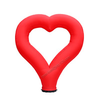 Free shipping 2.4m tall LED lighting inflatable heart outdoor romantic inflatable love balloon for wedding party decoration use