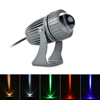 3W/10W LED Lawn Light  Wall Washer Waterproof Floodlights Narrow Beam Spot Lamp Outdoor Landscape Lighting AC110V 220V DC12V