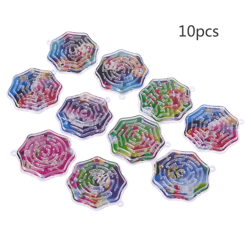 10Pcs Magic Octagon Puzzle Speed Labyrinth Track Maze Toy For Children Kids Gift N1HB
