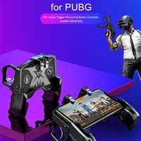 K21 PUBG Mobile Gamepad L1R1 Game Controller Four Fingers Ergonomic Grip Metal Trigger Joystick for iOS Android Phone