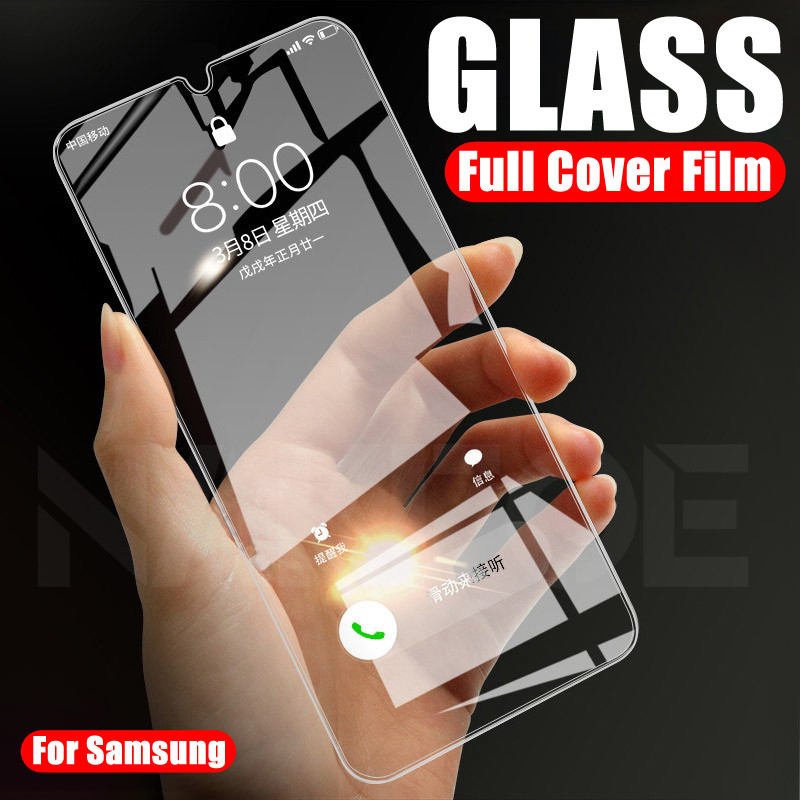 Protective Glass On The For Samsung Galaxy A10 A20 A30 A40 A50 A60 A70 A80 A90 A20E A40S Screen Protector Tempered Glass Film