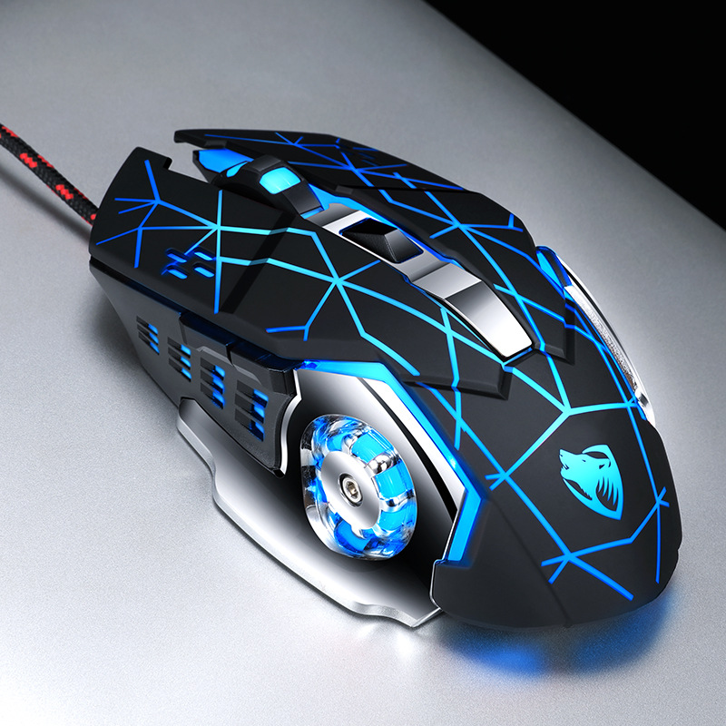 Wired mouse,sound and silent ,glowing, laptop, desktop computer, office, gaming, optical resolution 3200dpi mouse gamer
