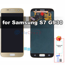 Original AMOLED for Samsung Galaxy S7 G930F LCD Display with Touch Digitizer and Frame Assembly Replacement 100% Tested