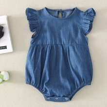 Baby Boys Girls Short Sleeve Denim Rompers Winter Newborn Girls Jumpsuits Infant Bebe Overalls Toddler Clothes baby bedding set for newborns soft cotton crib bedding set with bumper for girl bed linen for kid baby nursery decor custom made