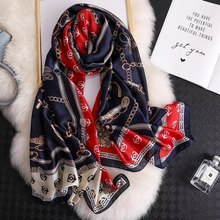 Classic women silk scarf female scarves ladies beach