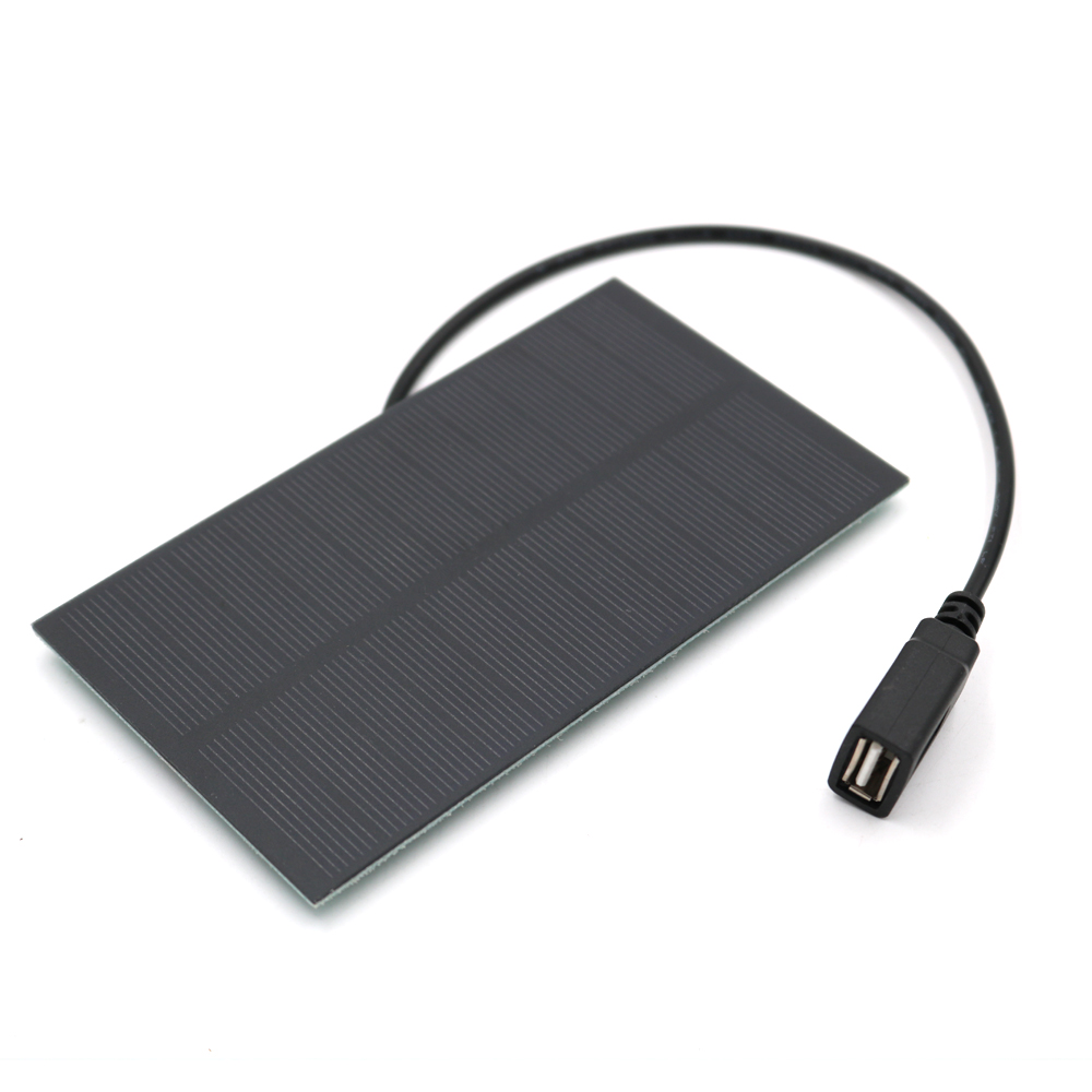 5 V 1.5W 4W 5W Output USB Solar Battery Charger USB Female port 5.5V 1.65W Charge Regulators Solar Panel 3.7V 18650 4