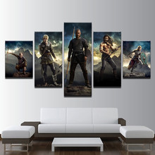 Canvas Poster Wall Art Hd Printed 5 Pcs/Set Vikings Movie Modular Pictures Paintings Home Decoration For Living Room Framework(China)