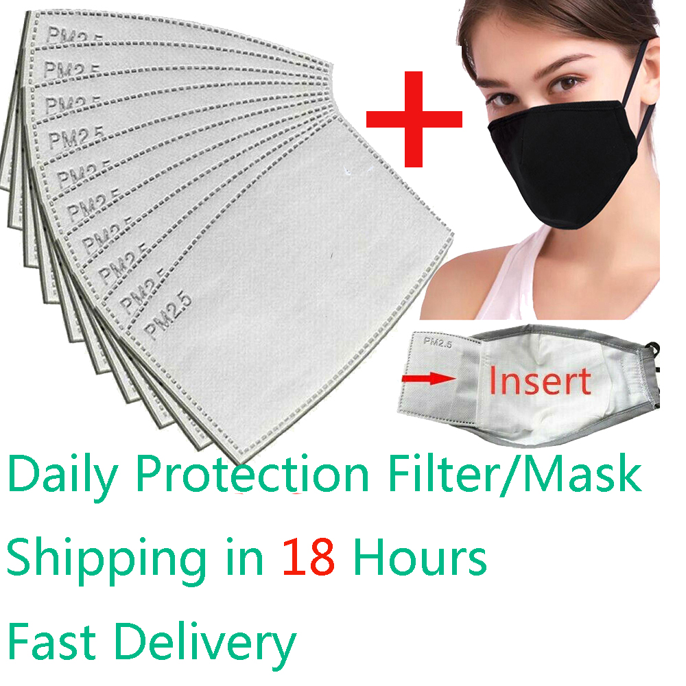 10-200PCS PM2.5 Mask Filter Paper Anti Dust Filter Mask Activated Carbon Filter Mouth Mask Filters Anti Haze Mouth Mask Filter