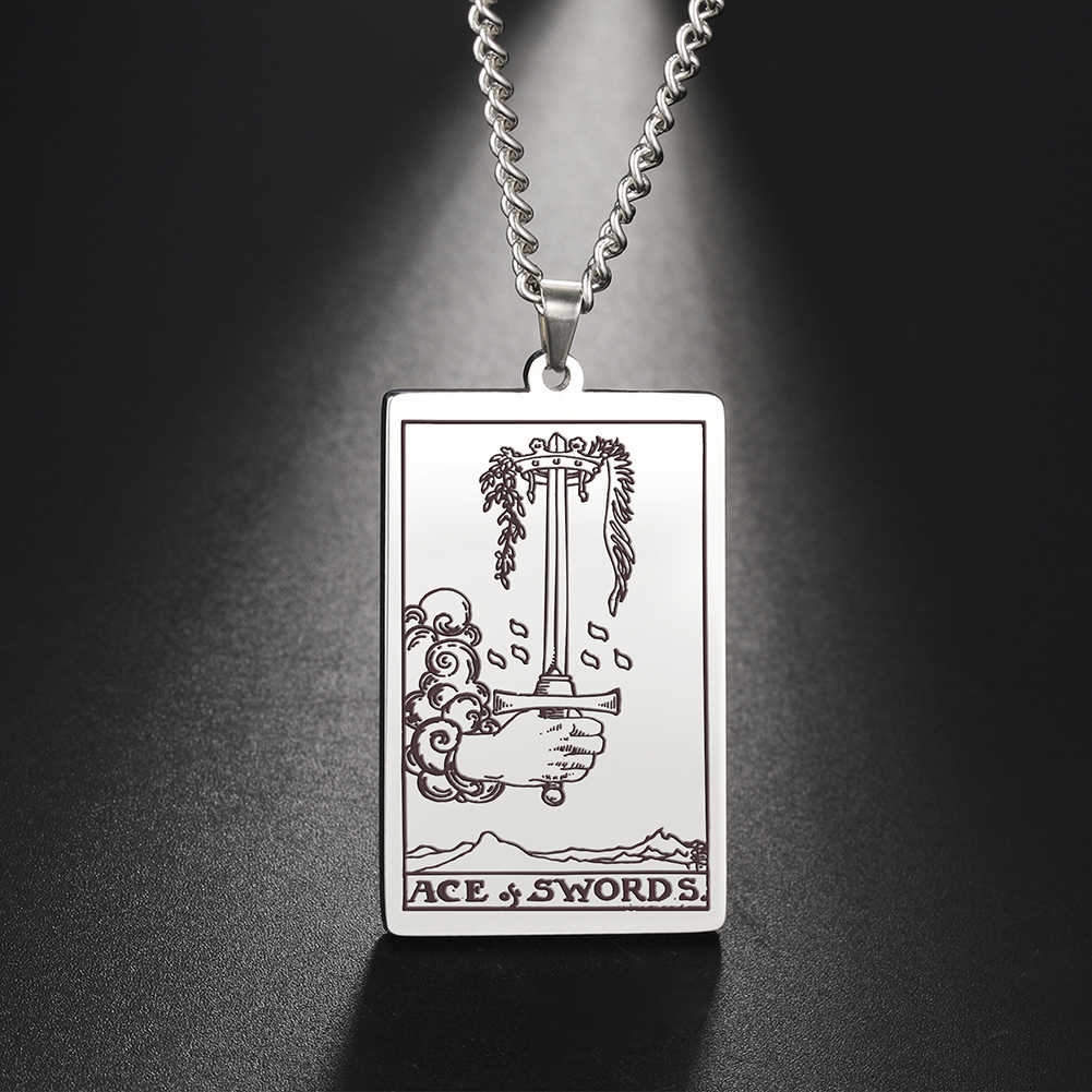 Tarot de Thot Collier Tarot Carte page des épées Tarot Deck Carte bijoux