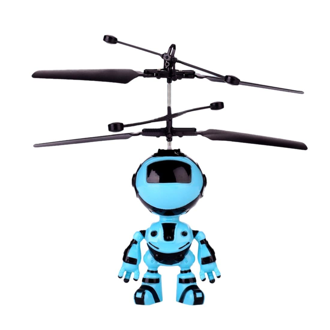 Мигающий индукционный подвесной самолет летающая игрушка ручной Летающий мини-робот с СВЕТОДИОДНЫЙ Красочный светильник для малыша-робот...