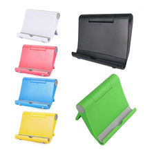Solid Color Waterproof Portable Desktop Phone Stand Table Holder Colorful Tablet Stand Bracket For Phone  IPhone IPad