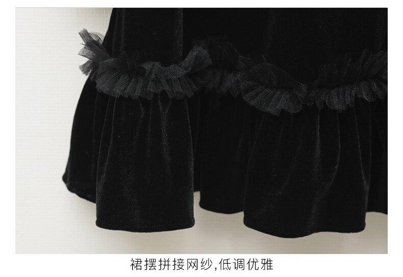 Teenage Kids Girls Winter Dress Fleece 2019 New Baby Girl Autumn Dress Black Kids Casual Dress Girl Children Top Toddler Dresses (3)