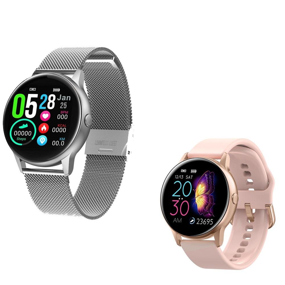 Relógio inteligente dt88 + cinta + eaphone/conjunto smartwatch feminino masculino monitor de freqüência cardíaca ip68 à prova dip68 água rastreador de fitness para ios android