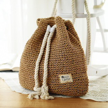 Women Straw Backpack Straw Bag Fashion Rucksack Weaved For Girls Mochila Backpack Travel Beach Bags Women Shoulder Bag