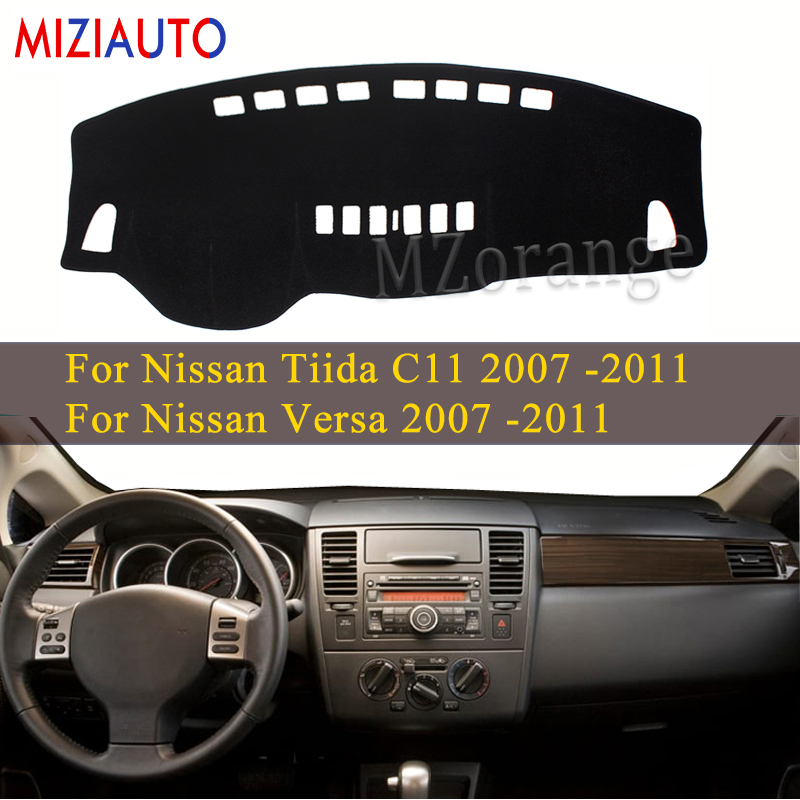 Car Dashboard Cover For Nissan Tiida C11 2007 2008 2009 2010 2011 Dash Mat Pad Sun Shade Dash Board Cover Instrument Platform