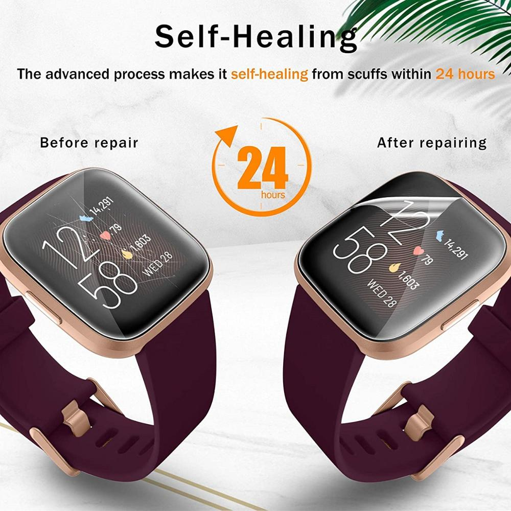 For Fitbit Versa 2 HD film tempered film matte film For Fitbit Versa 2 explosion-proof ultra-thin transparent screen protector 5