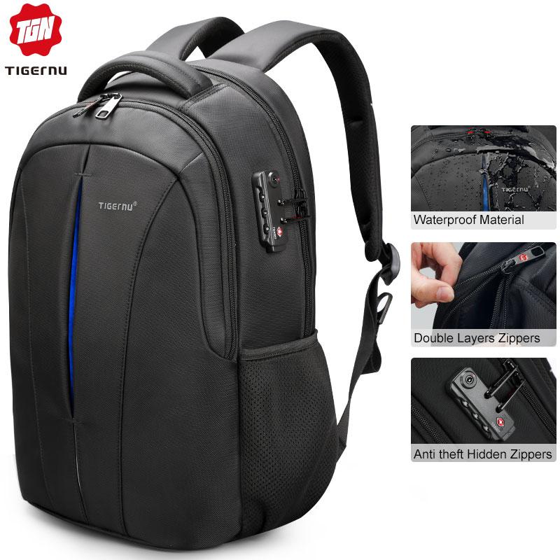 Tigernu Backpack Student College Waterproof Nylon Backpack Men Women Material Escolar Mochila Quality Brand Laptop Bag Backpack mannequin