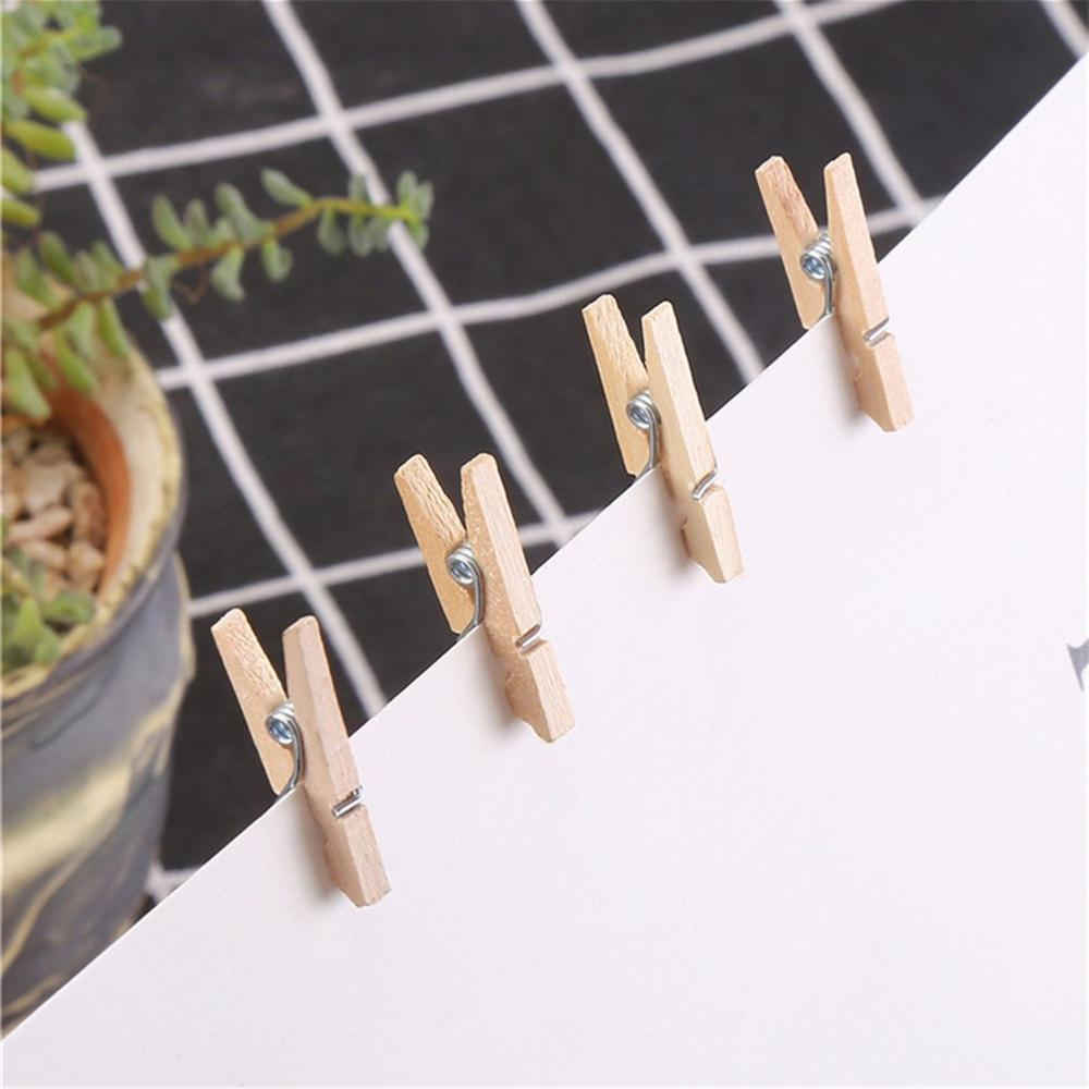 100pcs Small Mini Size Wood Photo Clips Clothespin Craft Decoration Clips Pegs Snack Clips