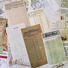 54 unids/bolsa Vintage boleto etiqueta engomada DIY Scrapbooking álbum diario planificador feliz pegatinas
