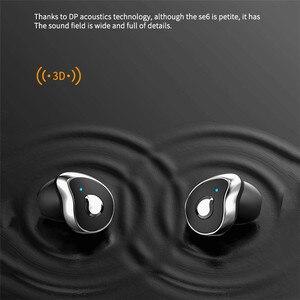 Image 5 - SE 6 블루투스 헤드셋 V5.0 TWS 무선 HD 스테레오 스포츠 헤드폰 HIFI 방수 소음 마이크와 게임 이어폰을 취소