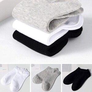 10 пар в комплекте; Мужские носки воздухопроницаемые спортивные носки, однотонные Цвет лодка удобные носки из хлопка носки до лодыжки; Цвет белый, черный