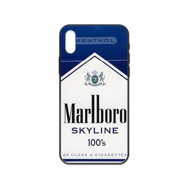 Cigarette Fumée Téléphone housse Etui coque Pour iphone 4 4s 5 5s SE 5C 6 6S 7 8 plus X XS XR 11 PRO MAX 2020 noir Etui jolie