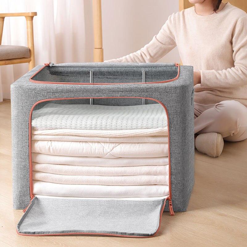 JOYBOS Оксфорд ткань складная коробка, корзина для хранения нижнего белья одежд игрушечный органайзер для белья бытовой отделка коробки шкаф ...