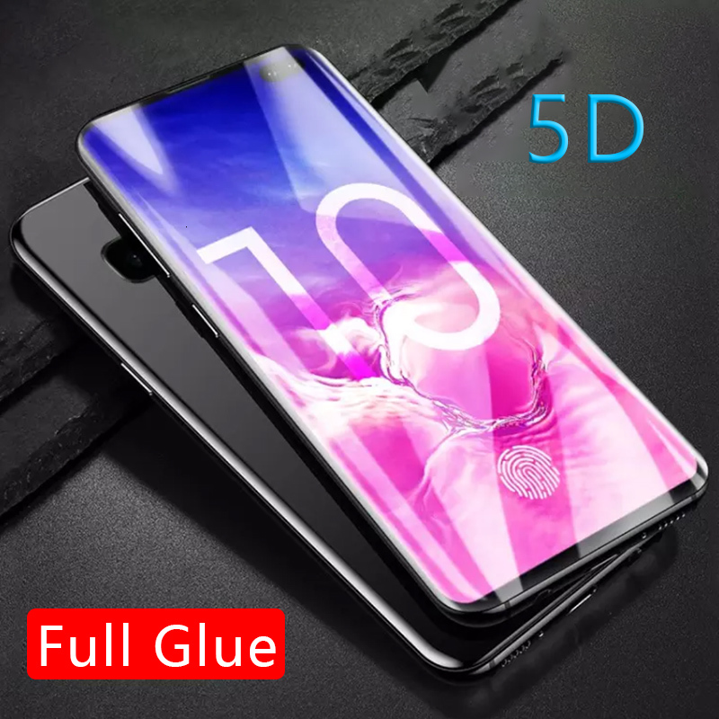 5D Full Glue Tempered Glass For Samsung S10 E S10e S 10 Plus Protective Glas Screen Protector On Galaxy S10plus 10s Safety Tremp