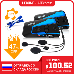 Lexin 2 قطعة B4FM BT moto سماعة رأس بتقنية bluetooth وإنتركوم ل 4 الدراجين FM راديو العالمي الاقتران moto rcycle الخوذة إنترفون intercomunicadores دي كاسكو moto