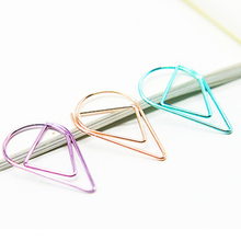 Color Random Water Drops Buckle Metal Colored Clip Modeling Folders Bookmark Material Drop-shaped