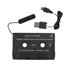Image 4 - Новейшая модель; Беспроводной iTape CSR V4.0 + EDR Bluetooth адаптер кассеты работать во время зарядки стерео аудио приемник для автомобиля проигрыватель колоды