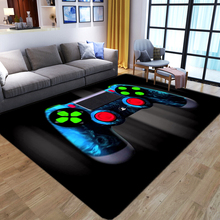 Area Rugs Floor Mat Game-Controller Printed-Carpets Bedroom Kids Cartoon Child Play-Crawl