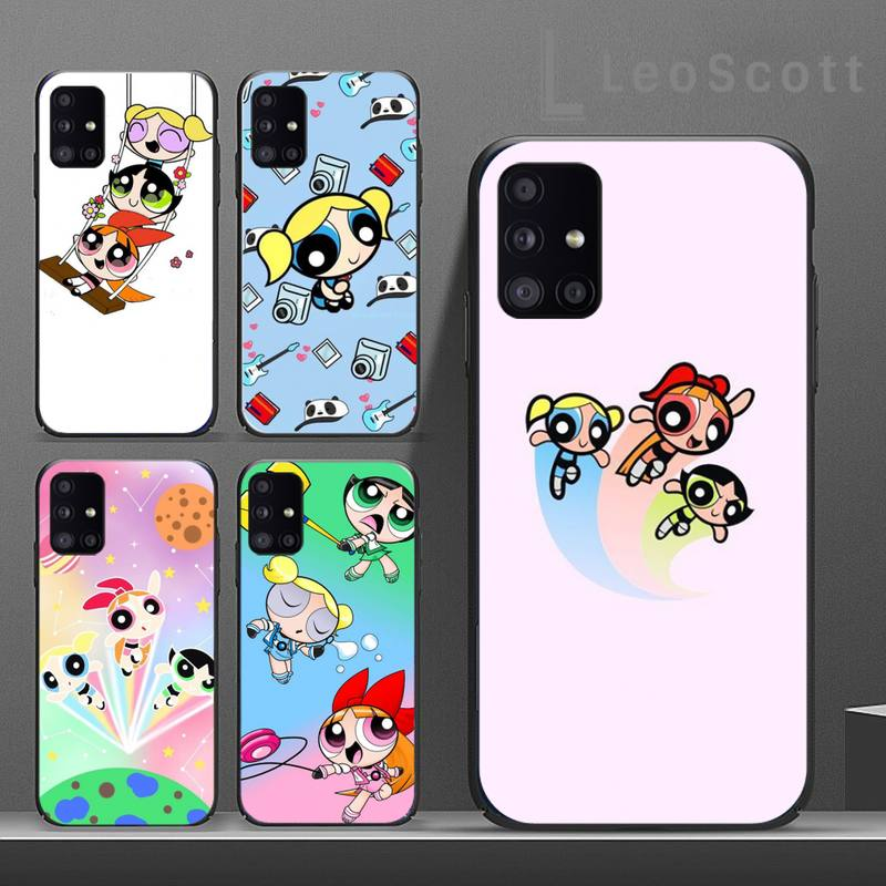 The Cute Funny Powerpuffs Girls Phone Case For Samsung A50 A51 A71 A20E A20S S10 S20 S21 S30 Plus Ultra 5G M11
