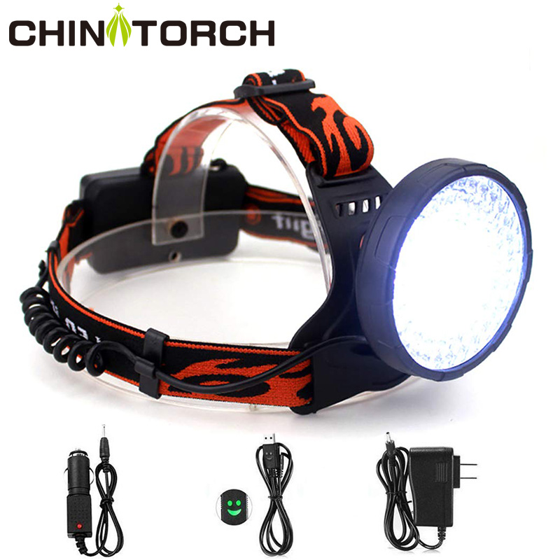 100 LED Headlamp 10W 4 Modes White+395nm UV Blacklight Head Torch Light Rechargeable Outdoor Waterproof Powerful UV Light