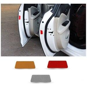 Внутреннее автомобильное отражающее Предупреждение ленты бампер автомобиля со светоотражающими элементами безопасности отражающие наклейки Наклейка для автомобиля