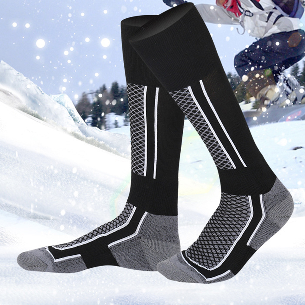 Mounchain Children Winter Ski Snow Sports Socks Thermal Long Ski Snow Walking Hiking Sports Towel Socks Free Size
