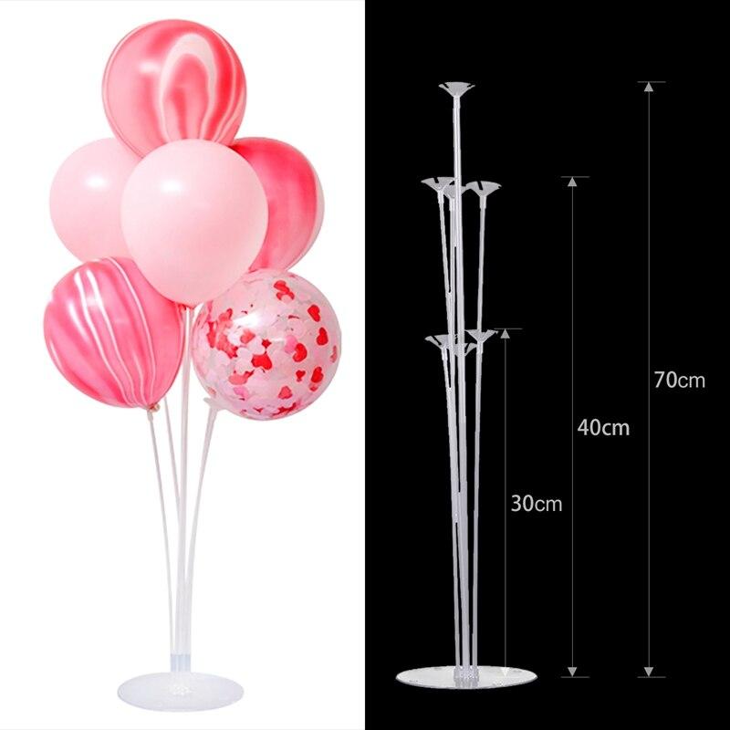 1/комплект из 2 предметов, 7 трубы подставка для воздушных шаров Колонка шар держатель Арка цепи Baby Shower одежда для свадьбы, дня рождения шарик...