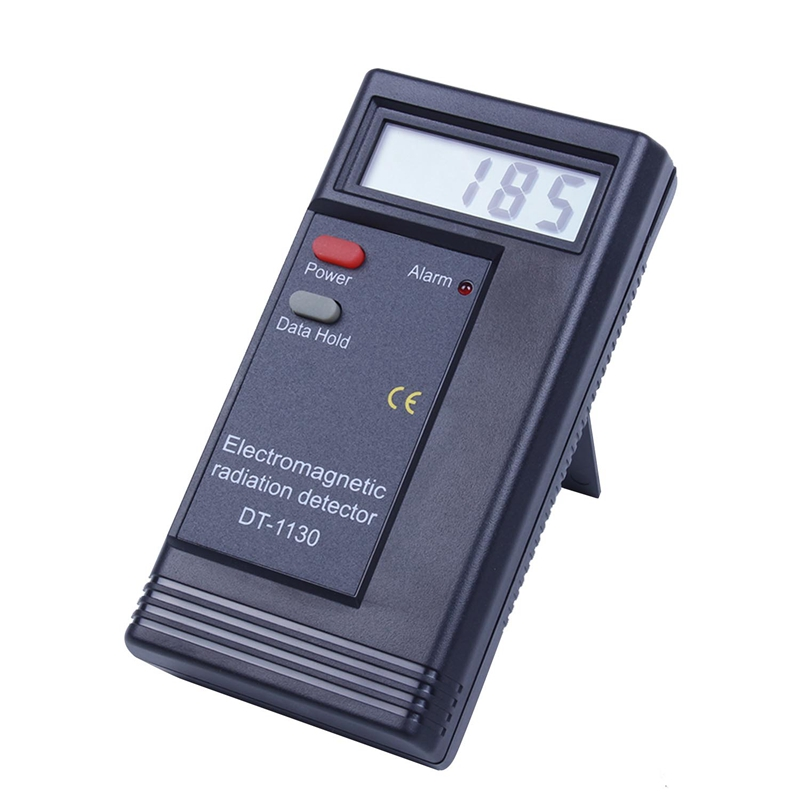 1 Black Plastic DT-1130 Electromagnetic Radiation Tester Electric Field Strength Tester Radiation Detection Equipment, With A Ba