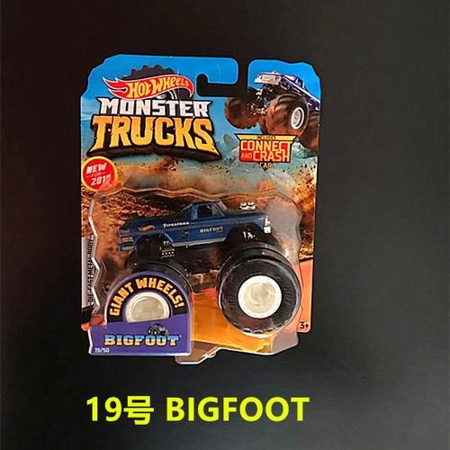 1: 64 оригинальные горячие колеса гигантские колеса Crazy Barbarism Монстр металлическая модель грузовика игрушки Hotwheels большая ножная машина детский подарок на день рождения - Цвет: 19 BIGFOOT