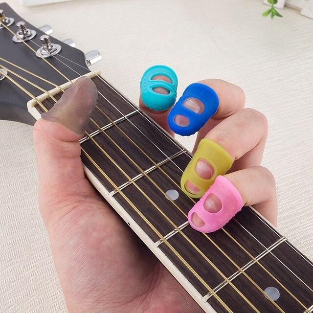 5 размеров гитарные защитные накладки на палец силиконовые для фотография